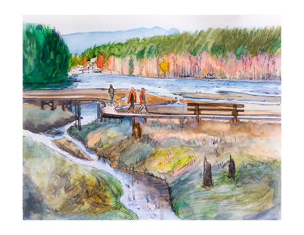 Port Moody Boardwalk PRINT