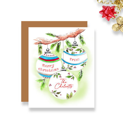 Personalized Ornament Holiday Card