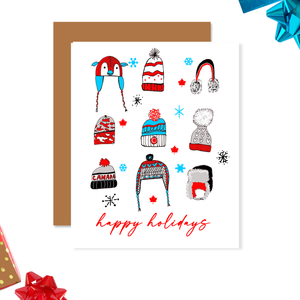 Toque Canadian Christmas Card-Happy Holidays