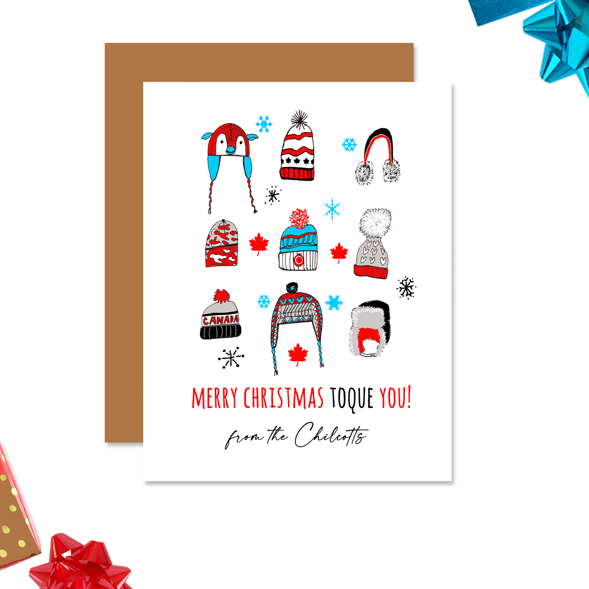 Personalized Toque Christmas Card