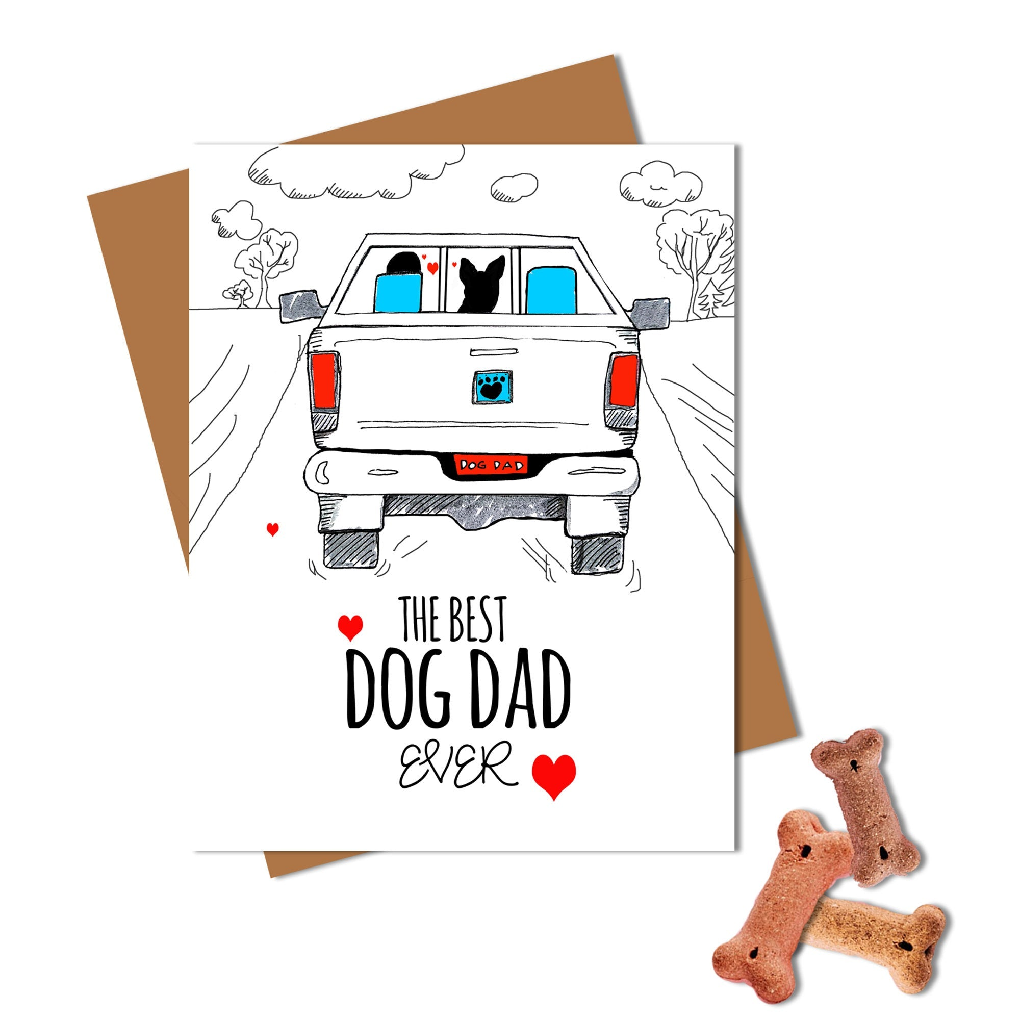 Best Dog Dad Ever Card - Husky Card
