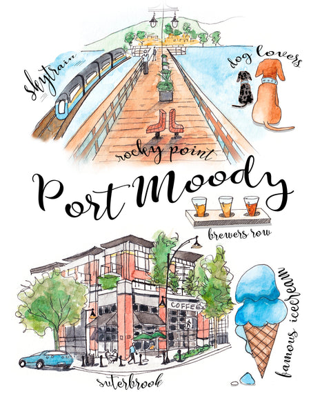 Port Moody Collage Print