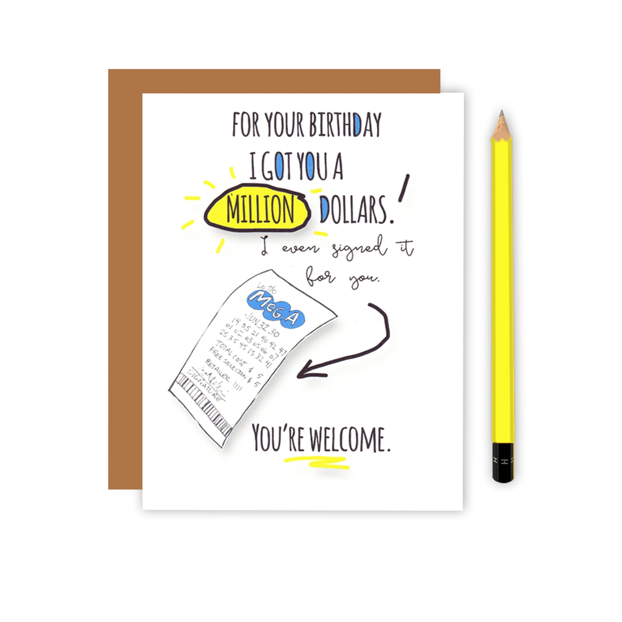 Million Dollar Birthday Card