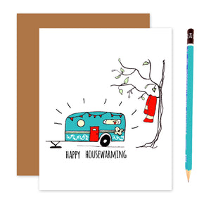 Happy Camper Housewarming Card