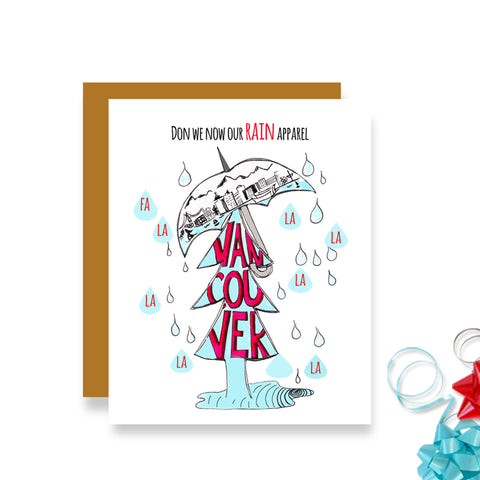 Vancouver - Rain Apparel Christmas Card