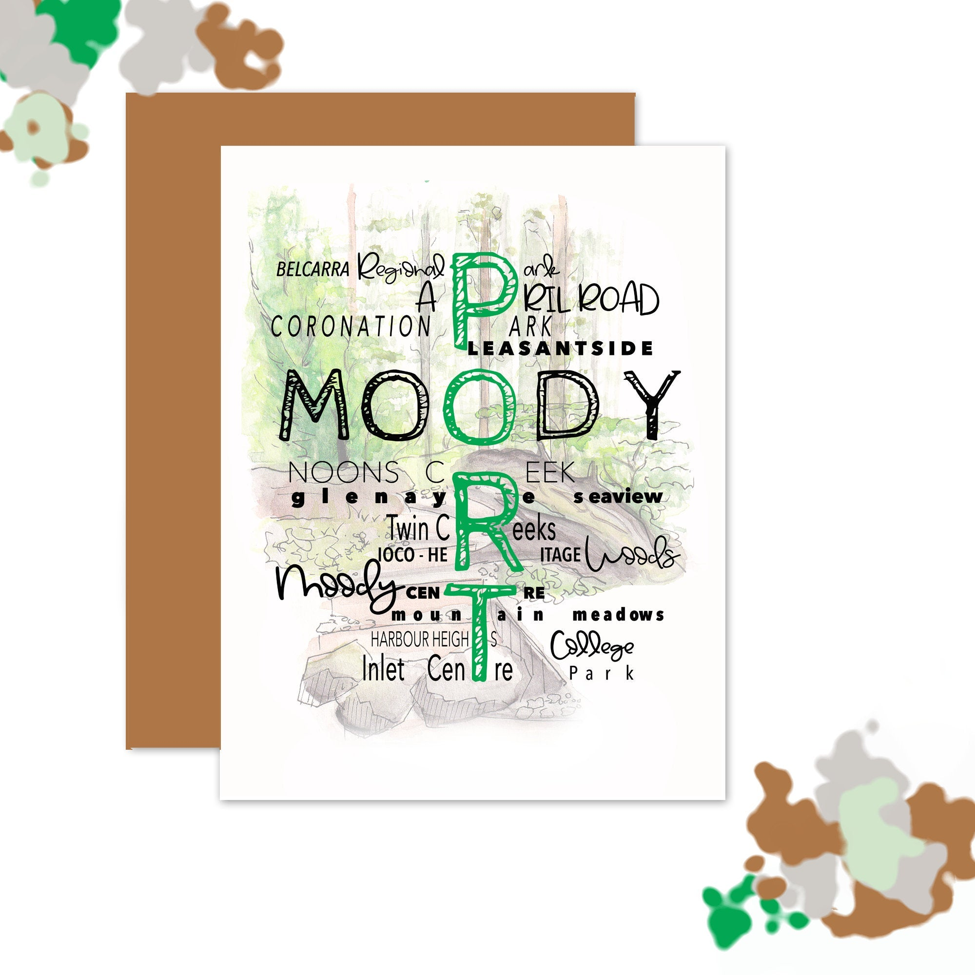Port Moody Neighborhood Card (Text)