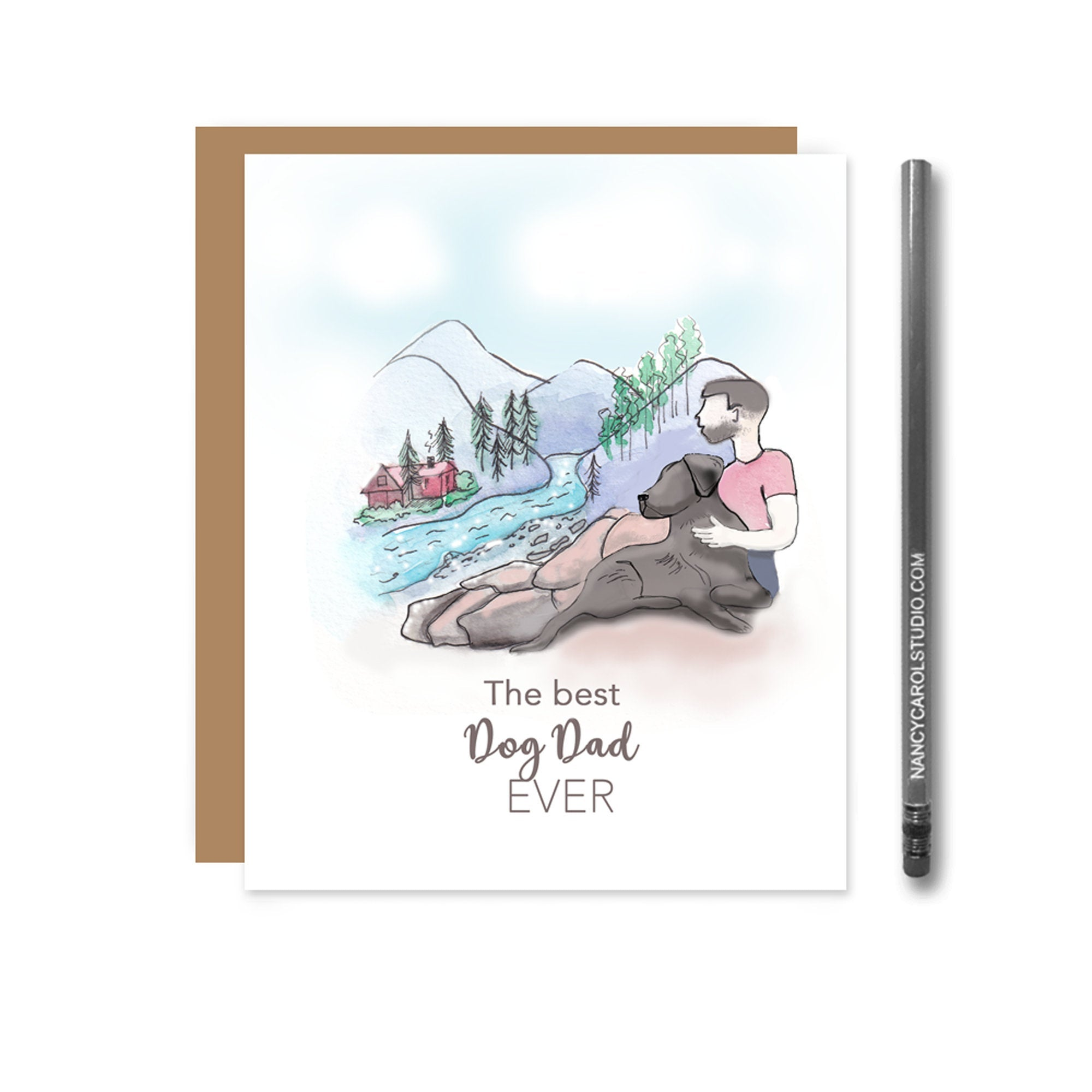 Best Dog Dad Ever - Black Lab Card