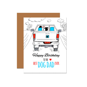 Best Dog Dad Ever - Birthday Card