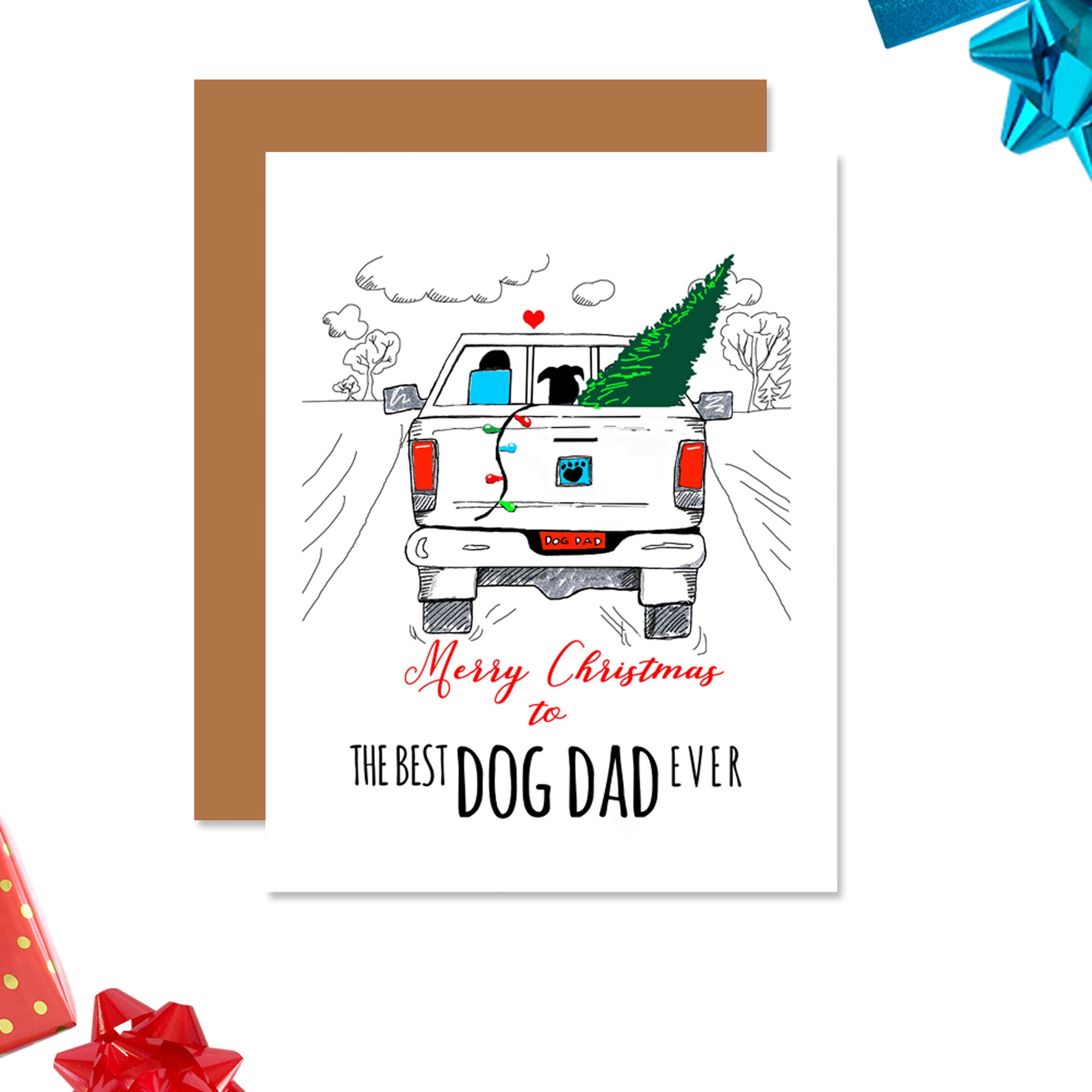 Best Dog Dad Ever - Christmas Card