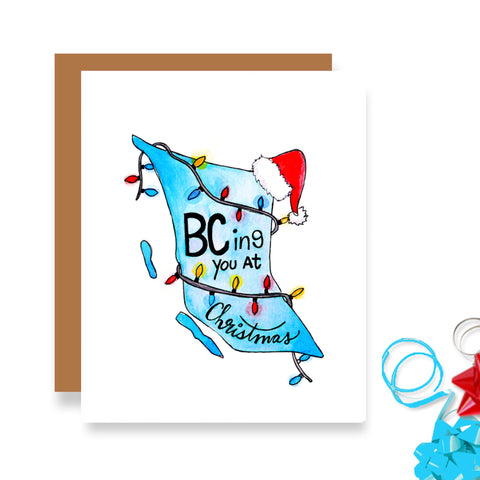 BCing You at Christmas Card