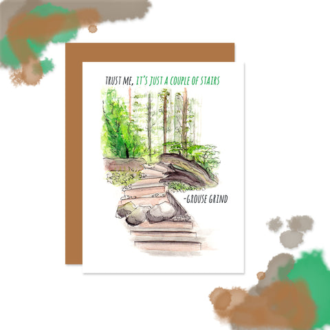 Grouse Grind Vancouver Note Card