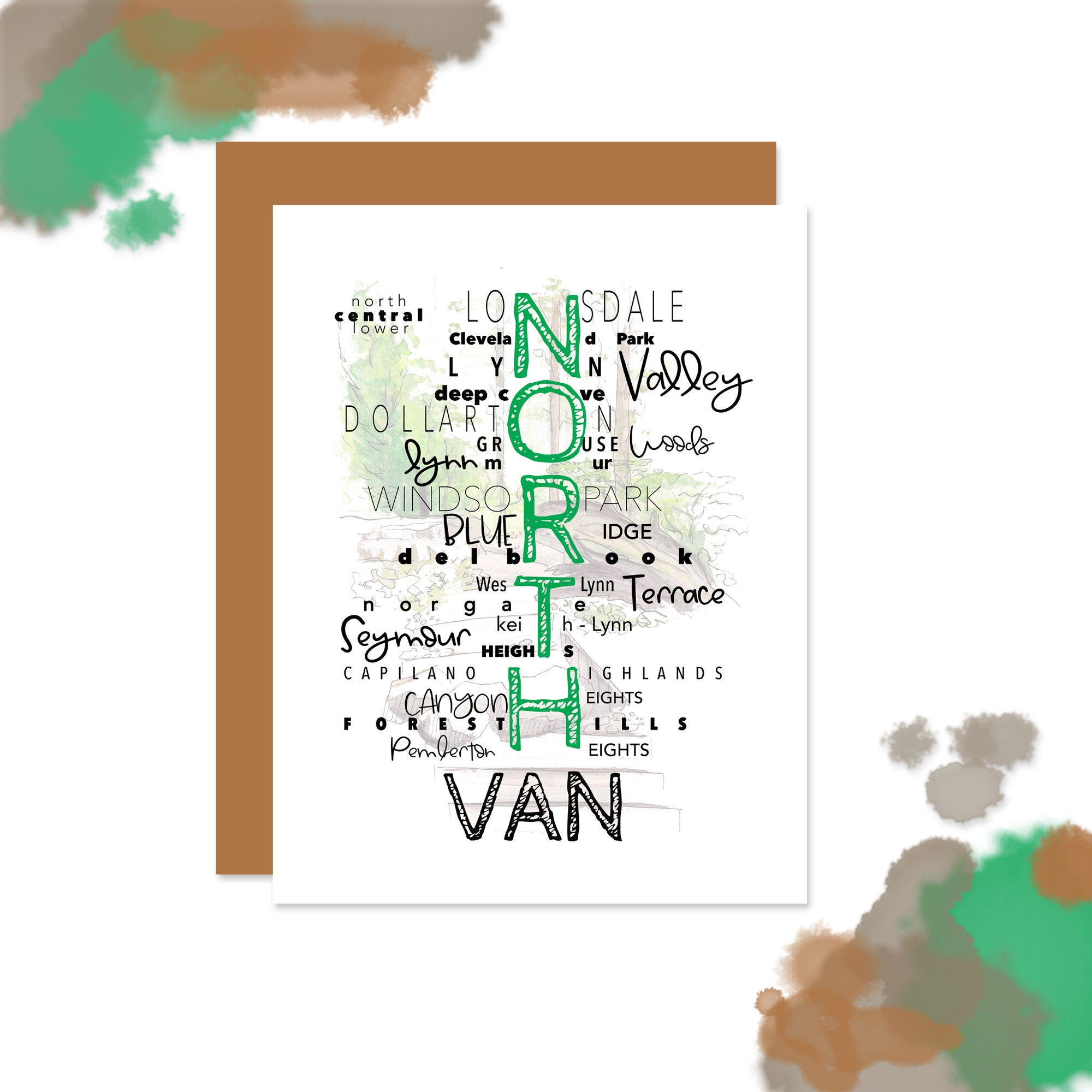 Vancouver - North Van Neighborhood (Text) Card