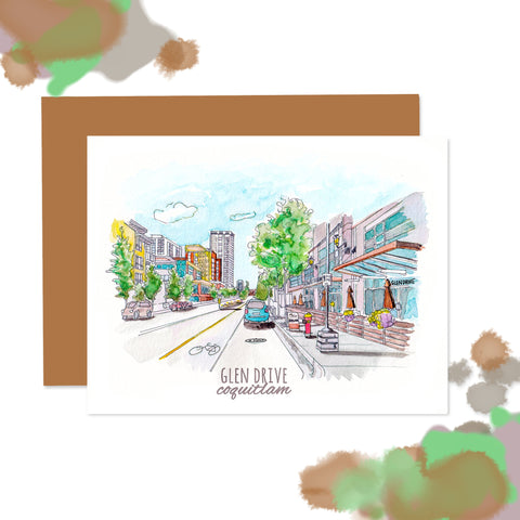 Coquitlam Glen Drive Note Card