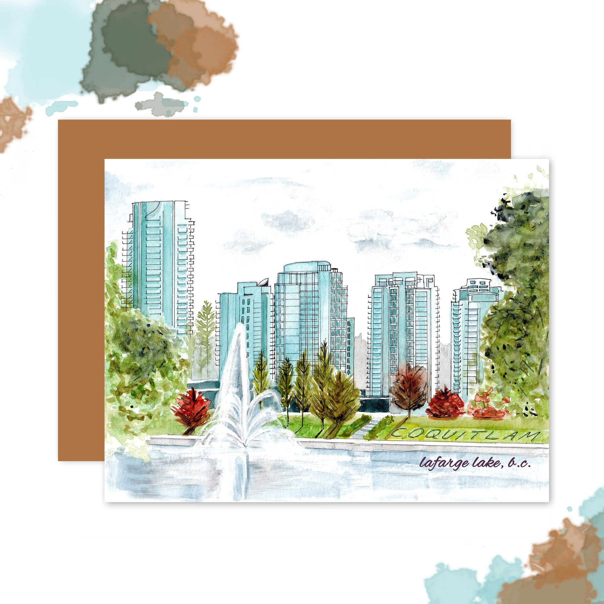 Coquitlam LaFarge Lake Thank You Card