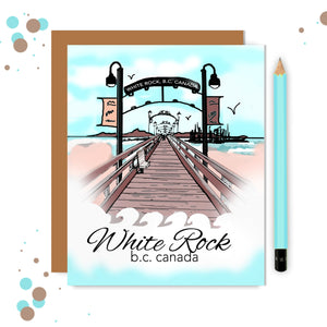 White Rock Pier Card