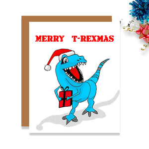Dinosaur Christmas Card