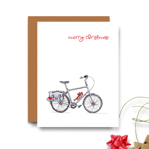 Bicycle (Bike) Christmas Card