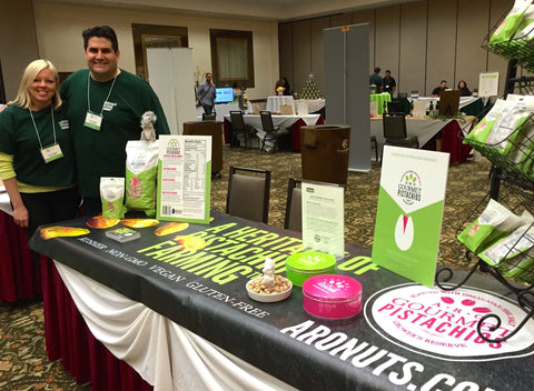 CEO Adam Orandi and Communications Manager Pamela Orandi present at Fresno Food Expo judging panel