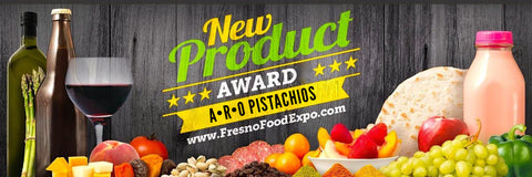 New Product Award by Fresno Food Expo to Winner ARO Pistachios