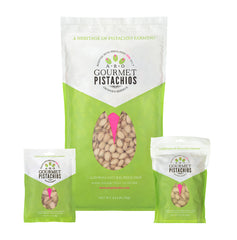 Power Trio Gourmet ARO Pistachios California Natural Pistachio Power Jumbo Nuts Kosher Heart-Healthy Nongmo Vegan Glutenfree Paleo Himalayan Pink Salt Orandi Ranch Pistachio Power American Pistachio Growers