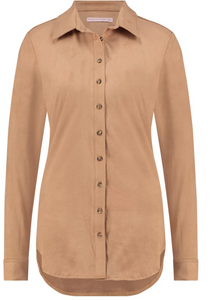 Poppy light suede blouse | Studio Anneloes