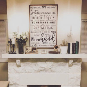Wedding Song Lyrics Sign on Wood