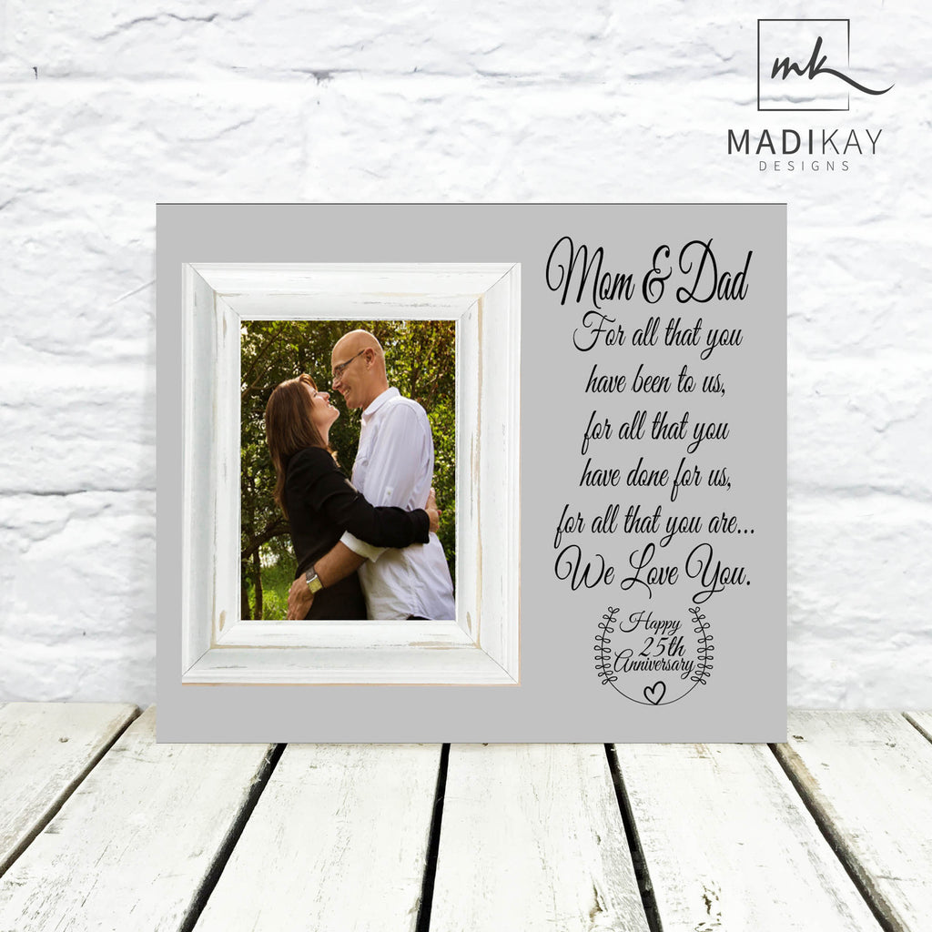 Mom And Dad 25th Anniversary Picture Frame Madi Kay Designs