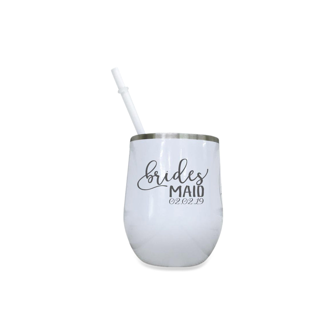 Personalized Colorful 12 oz Wine Tumbler for Bridal Party