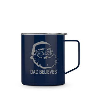 "Personalized and Engraved ""I Believe"" Santa Mug with Clear Lid"