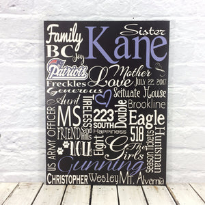 personalized wedding anniversary wood subway sign for parents