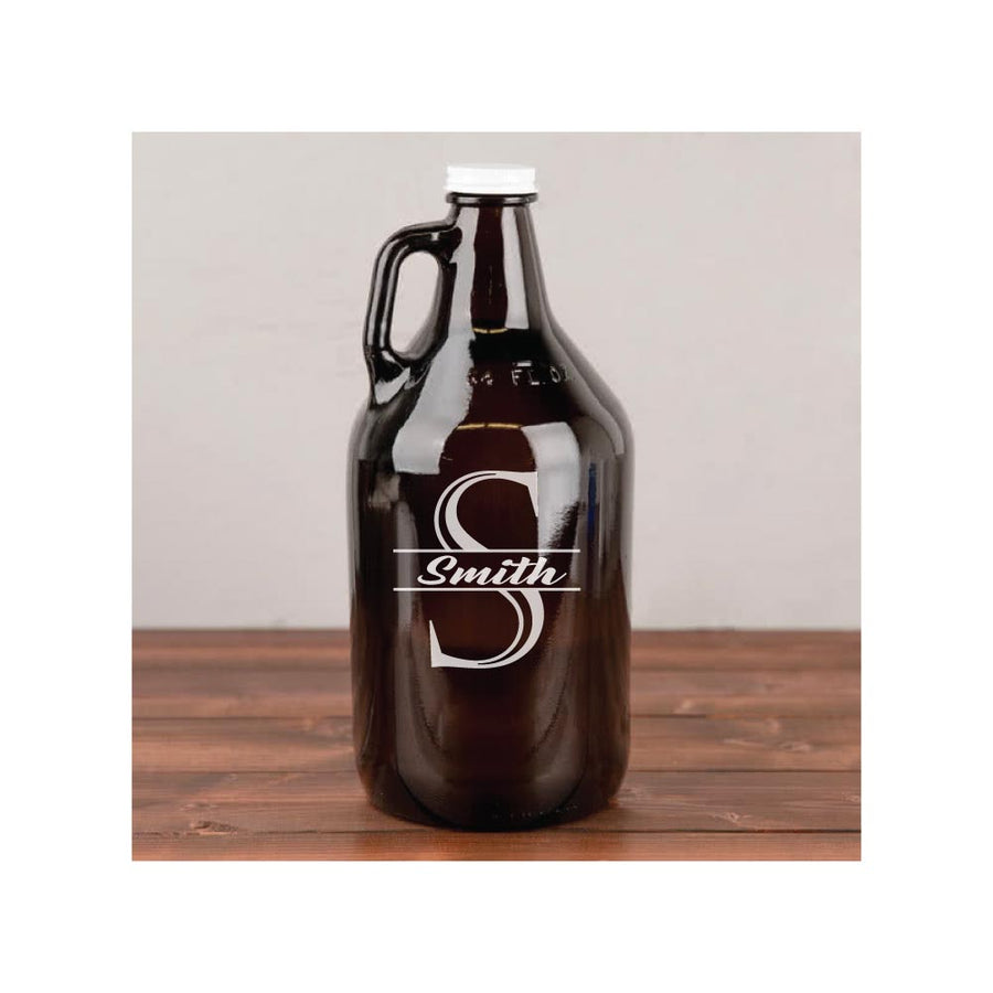 Personalized Engraved Glass Growler with Name