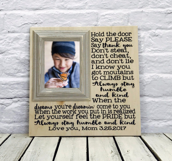 Humble and kind song lyric picture frame