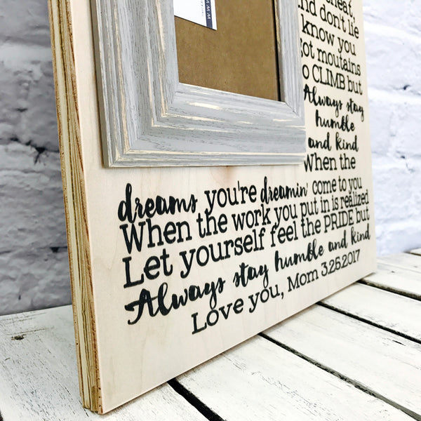 Humble and Kind Wood Picture Frame Gift