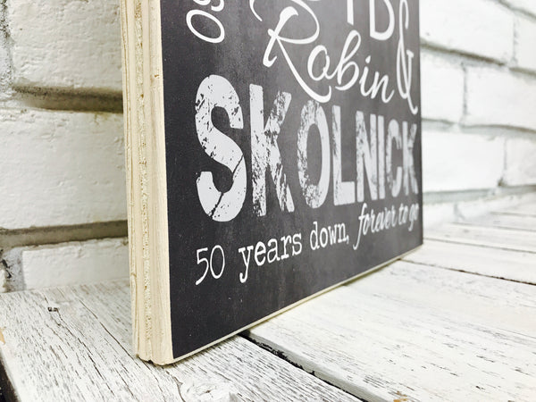 50 Year Anniversary Personalized Sign - Tin