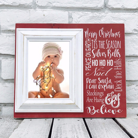 Christmas Tradition 12 x 14 Picture Frame- Wood