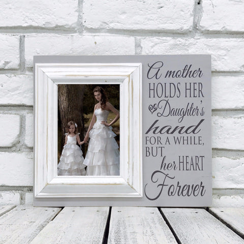 A Mother Holds Her Daughters Hand 12 x 14 Picture Frame- Wood