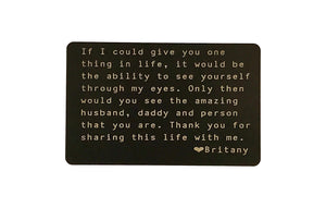 Long Distance Relationship Gift Wallet Card