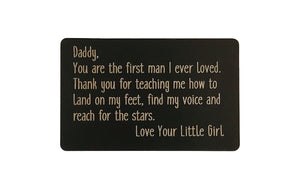Gift for Daddy Wallet Card