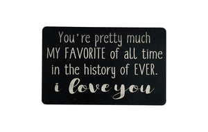 I Love You Personalized Wallet Card