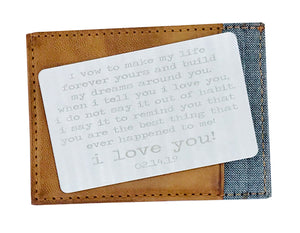 10 Year Anniversary Gift for Men Wallet Card