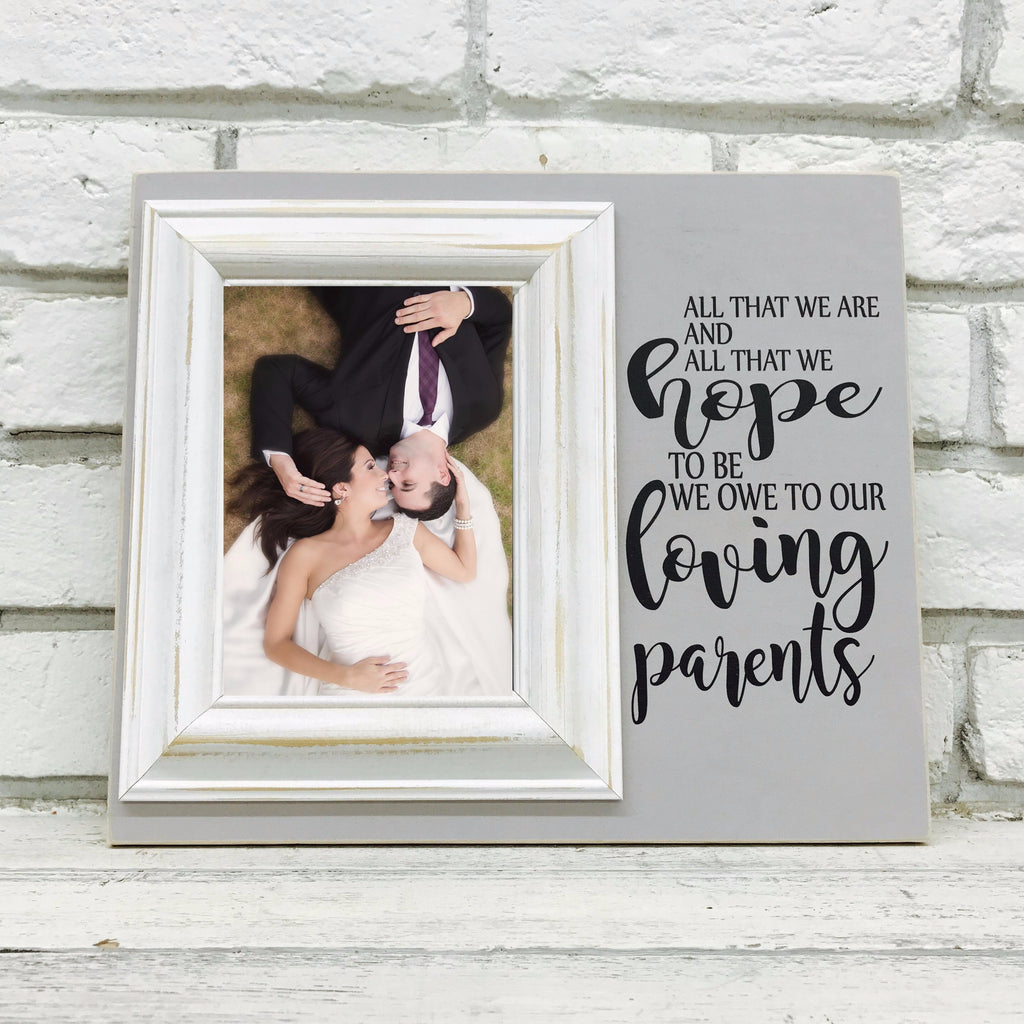 Personalized picture frames madi kay designs all that we are we owe to our parents 12 x 14 picture frame gift jeuxipadfo Gallery