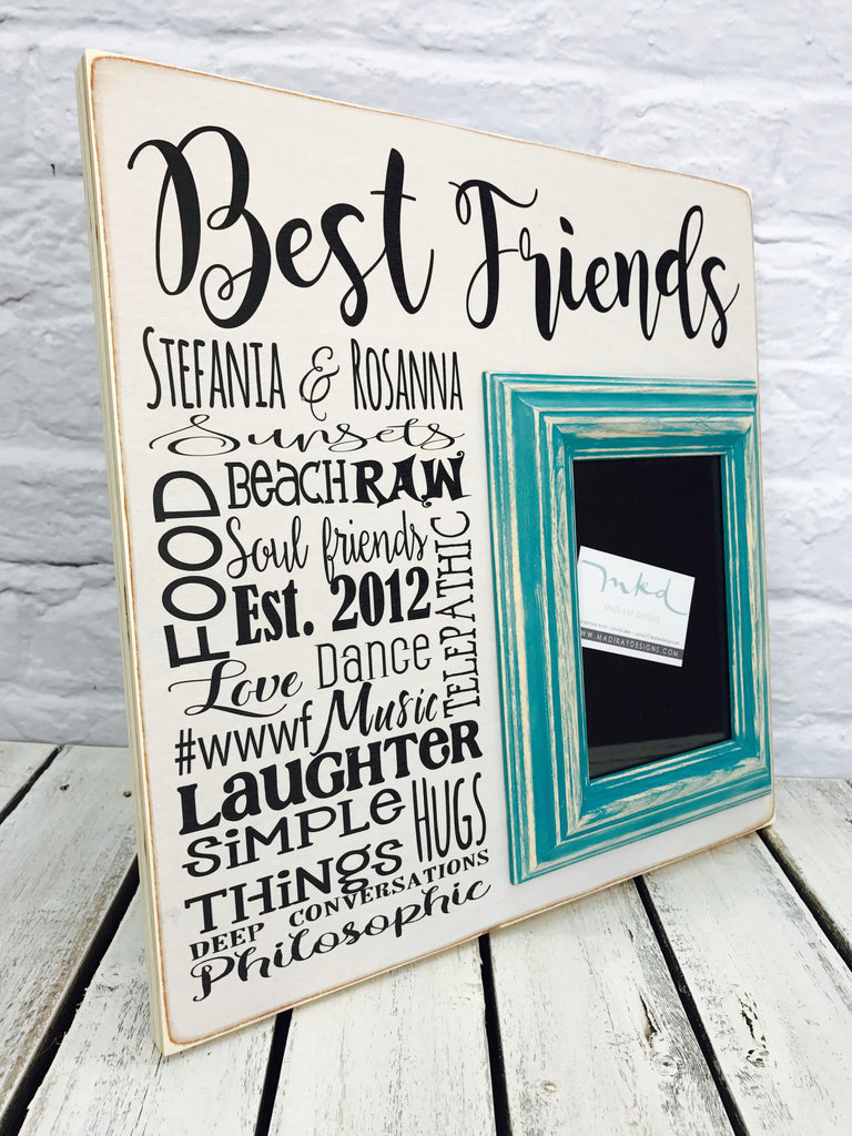 Best friends wedding gift 16 x 16 picture frame wood madi kay best friends wedding gift 16 x 16 picture frame wood jeuxipadfo Gallery