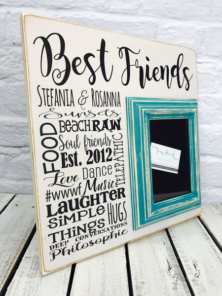Best Friends Wedding Gift 16 x 16 Picture Frame - Wood