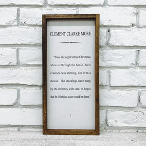"""'Twas The Night Before Christmas"" Wooden Sign"