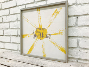 """You Are My Sunshine"" Wooden Sign"