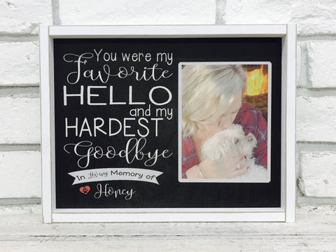 Dog Loss Gift Idea Frame