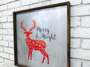 Merry and Bright Deer Tin