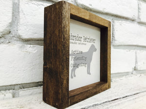 Labrador Retriever Dog Wooden Sign