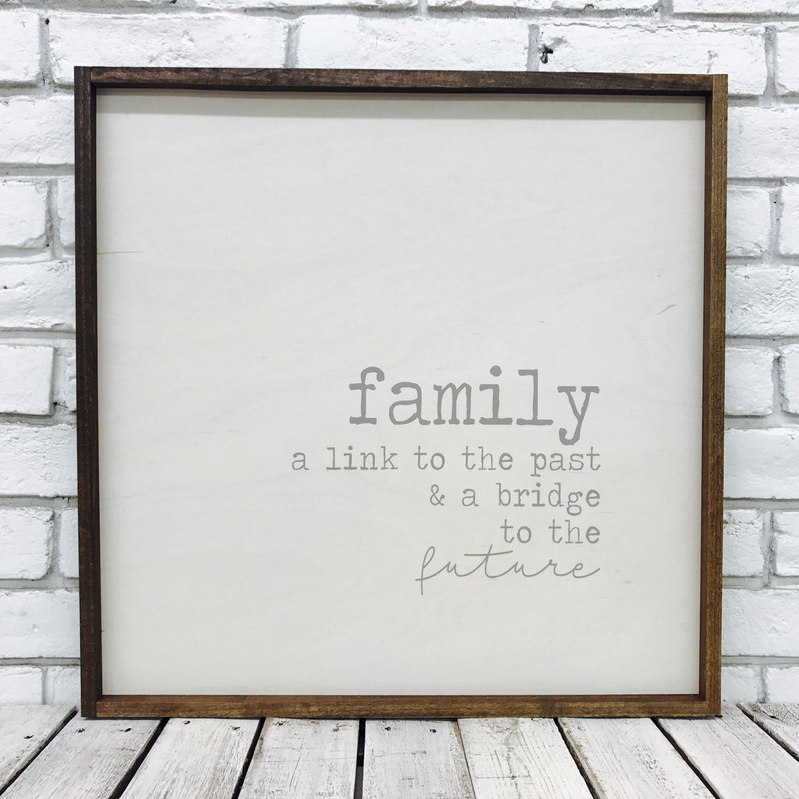 """Family a Link to The Past..."" Wooden Sign"