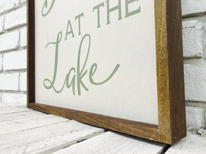 When We Count our Blessings..Lake Green Font Wood